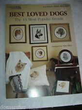 Leisure Arts Best Loved Dog Breeds 13 Most Popular Cross Stitch Pattern Book '87