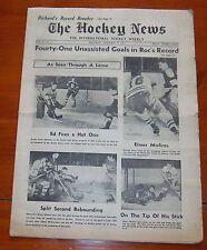 The Hockey News November 15 1952 Maurice Richard Record Breaking 325 goal