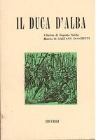 Donizetti: Die Duca D' Alba - Libretto Ricordi