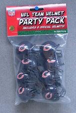 Chicago Bears NFL Football Team Riddell Gumball Helmet Party Pack of 8