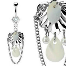 Shell Mother of Pearl Dangle Navel belly Ring