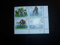 United States Scott 3077 - 3079, the Prehistoric Animals block of four stamps