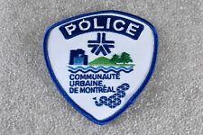 Genuine Montreal (Quebec, Canada) Communaute Urbaine Police Patch
