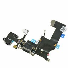 OEM Black Headphone Audio Charger Charging Data USB Port Flex Cable iPhone 5 5G