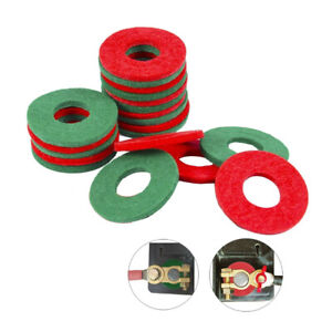 Anti Corrosion Battery Terminal Washers, Bag, 20Felt Washers, 10Sets Green Red
