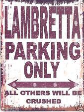 LAMBRETTA PARKING SIGN RETRO VINTAGE STYLE 8x10in 20x25cm garage workshop art