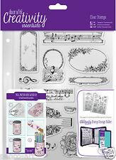 Docrafts Papermania musicalità Music A5 Timbro set di 14 + CARTELLA di Archiviazione Tasca