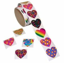 100 -  Funky Heart Stickers - Fun Express - Valentine Card Decorations Love