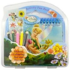Disney Fairies: Stationery Travel Activity Mini Fun Pack Colouring Pad Stickers