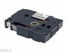 NASTRO CASSETTA TAPE COMPATIBILE BROTHER TZ-231 NERO SU BIANCO x P-Touch - 12mm