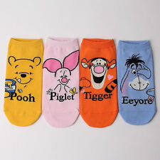 POOH FRIENDS CHARACTER SOCKS 4 pairs=1 pack women girl cute SHIP FROM USA