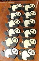 SOUS VERRES EN BOIS PEINTS A LA MAIN LOT DE 12 les pandas