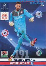 190 ROBERTO JIMENEZ OLYMPIACOS.FC  CARD CHAMPIONS LEAGUE ADRENALYN 2015 PANINI