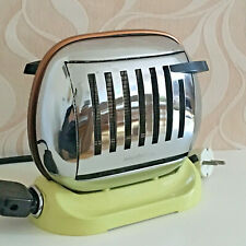 50er Toaster Maybaum 581 Chrome Bakelit Gelb Mid Century Vintage 50s