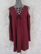 Umgee Purple Cold Shoulder Lace Up Dress Size M