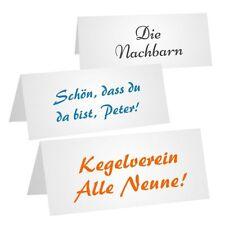 50 Tischkarten weiss, blanko 100 x 100 mm Namenskarten Reservierung Karton 240gr