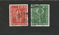 1955 Germany SC #B342-43 WESTROPA 1955 Θ used stamps