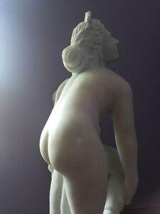 Antique Hand Carved White Marble Statue Eurydice after Sir Joseph Edgar Boehm