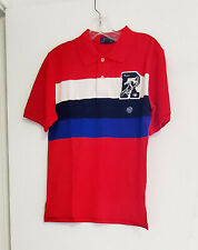 Polo Ralph Lauren Boys Letterman Patch Mesh Polo Shirt Red Sz 2/2T - NWT