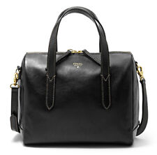 Fossil Sydney Women's Leather Satchel, One Size - Black