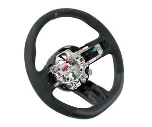 2015-2017 Mustang Shelby GT-350 Silver Stitched Black Leather Steering Wheel