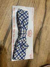 Vintage 1940 - 1950's Wembley Blue Pattern Fancy Clip-on Bow Tie New