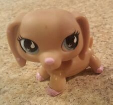 RARE Littlest Pet Shop #909 Tan Pink Polka Dot Ears Dachshund