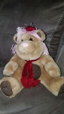 "Coffee Bean Teddy Bears Plush Hazel The Nut 8"" sitting size Hard to Find EXC"