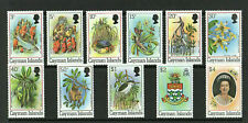CAYMAN ISLANDS 1980 - BIRDS & FLOWERS - COMPLETE SET OF STAMPS - MINT NOT HINGED