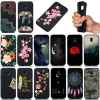 For Samsung J2 J3 J5 J7 Pro Shockproof Soft Silicone Black Painted TPU Back Case