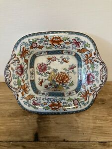 Minton & Hollins BB New Stone Pottery Footed Dish Centrepiece Old Antique