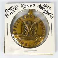 Signed WWII US Military Good Conduct Medal Fidelity Honor Efficiency Eagle