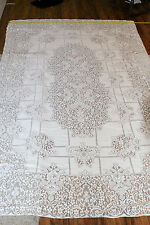 "ANTIQUE Lace, Banquet Tablecloth 64""x102"" Gorgeous Pattern!!!"