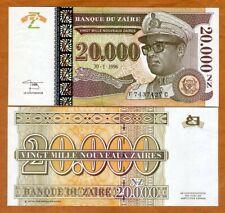 Zaire, 20,000 (20000) Nouveaux Zaires, 1996, P-73, HdMZ UNC