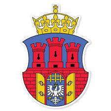"Krakow Coat of Arms Flag car bumper sticker window decal 3"" x 5"""