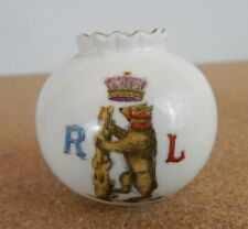 Crested Ware  Warwickshire Yeomanry insignia Vase 5cm tall