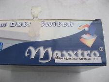 Viejo inusitado Maxxtro SB704 Monitor de 4-1 + KB + ratón Interruptor manual de datos sin cables Inc.