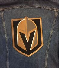 "VEGAS GOLDEN KNIGHTS PATCH NHL TEAM JERSEY CHEST EMBLEM  12"" x 8 3/4"" PLAYOFFS"