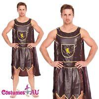 Mens Spartan Warrior Roman Gladiator Soldier Fancy Dress Costume