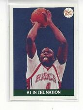 1991 FRONT ROW BASKETBALL LARRY JOHNSON #45 - ACCOMPLISHMENTS #1 IN THE NATION