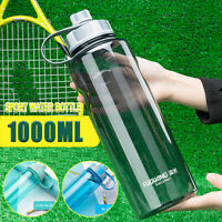 1L Outdoor-Sportarten Trinkwasser Flasche dicht Radfahren Gym Cup Flip Deckel