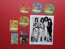 "Queen,8x10"" B/W promo photo, 7 Rare Original Backstage passes"