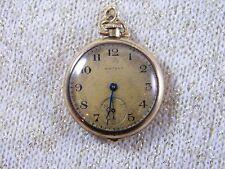 Movement ~ Pocket Watch ~ Dubois Case 1915 Waltham ~ 15J 14K Gold Sapphire