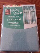 Pioneer Woman Charming Check 3 Pc Window Curtains #2
