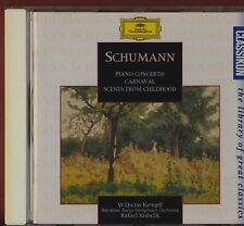 Schumann: WILHELM KEMPFF Piano Concerto / Carnaval / Childhood  CD St2.50