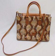 Dooney And Bourke Euc Snakeskin Embossed Leather Cross Body Satchel Handbag