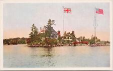Zavikon Island Thousand Islands Ontario Canada Steamship Lines Postcard F1