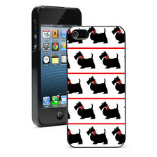 For iPhone SE 5 5S 5c 6 6s 7 Plus Hard Case 505 black scottie dogs red bows