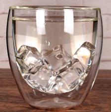 4 PCS Wine Coffee Tea Glasses Double Walled 250ML