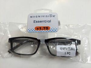 MAGNIVISION ESSENTIAL READING GLASSES +1.75 GRAHAM DESIGN TORTOISE  FRAME